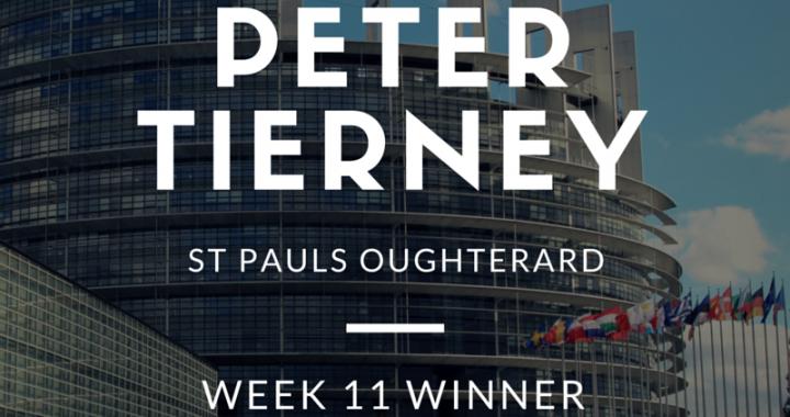 Peter Tierney - Week 11 Winner
