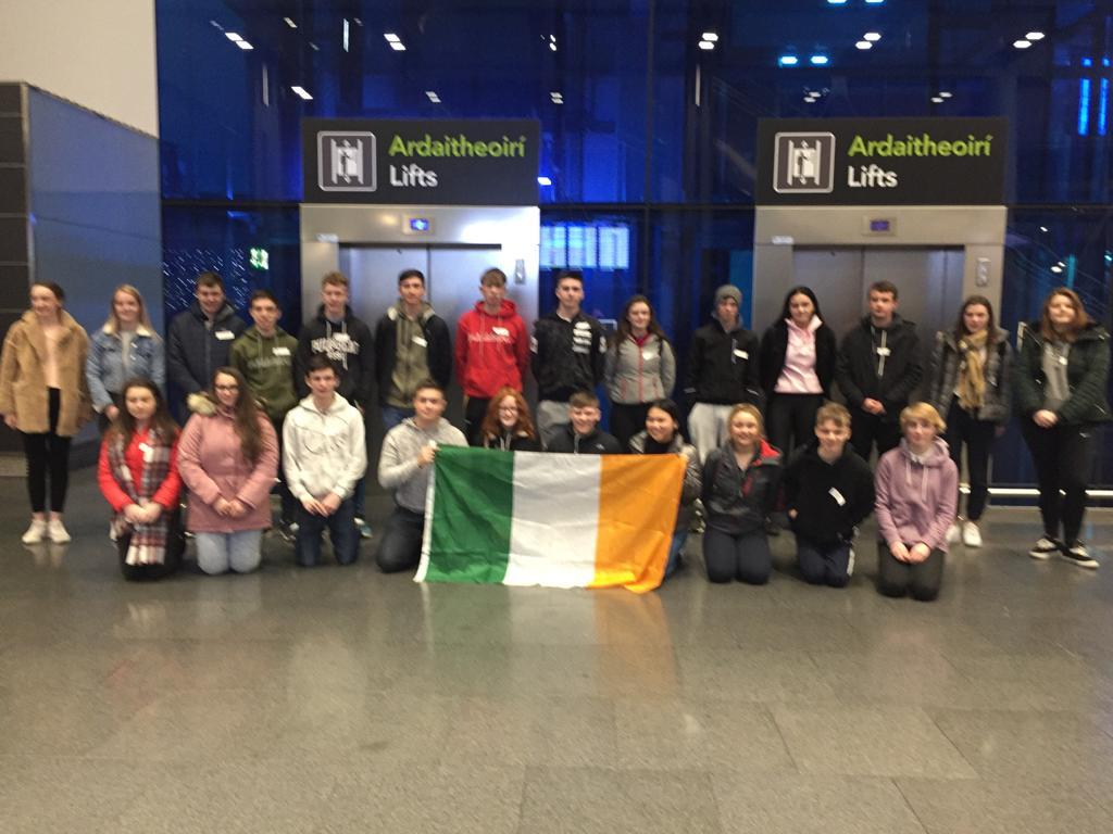 Winners ready for off at Dublin airport.