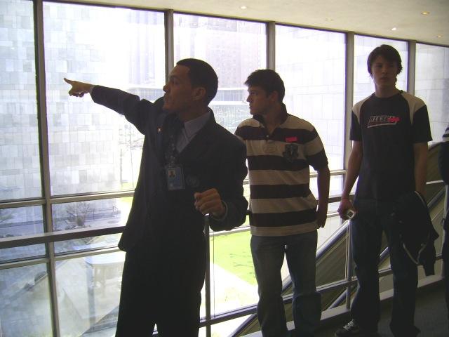 7 In the UN building